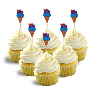 Ice cream cup cake toppers summer decor